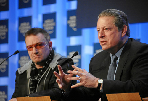 "From Davos, Gore Says ""Changing Light Bulbs"" Not Enough"
